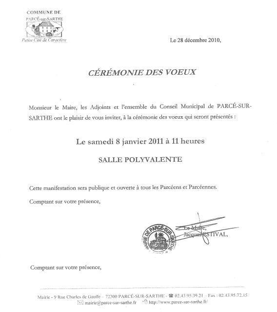 Modele Invitation Maire Document Online