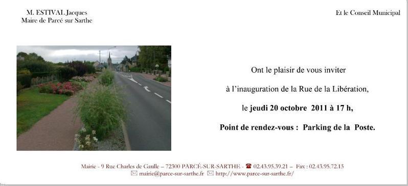 Parce Sur Sarthe Inauguration De La Rue De La Liberation
